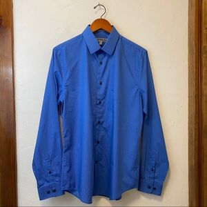EXPRESS Fitted Button Down Long-Sleeve Shirt